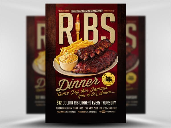 business dinner flyer