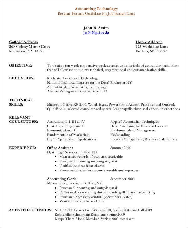 Accounts Payable Resume Format | Resume Format And Resume Maker
