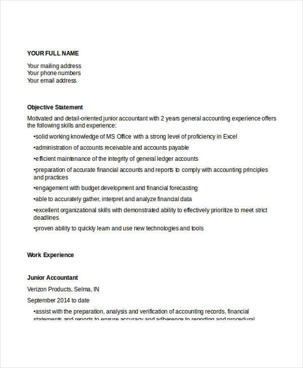 junior accountant sle resume 28 images accounting resume