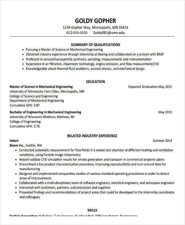 Professional Fresher Resume Templates In Word Pdf Format