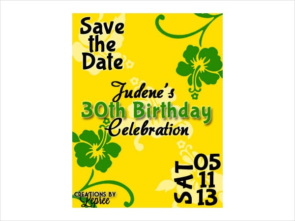 Birthday Save The Date Flyer