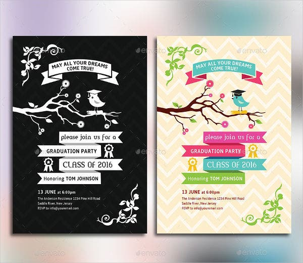 Sample Invitation Cards Free Premium Templates - Sample graduation party invitation