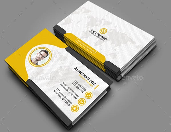 Printable business cards free premium templates corporate personal business card colourmoves