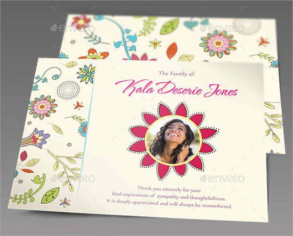 -Funeral Gift Message Card