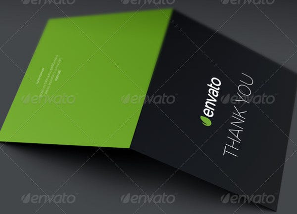 Printable business cards free premium templates for Thank you card for business