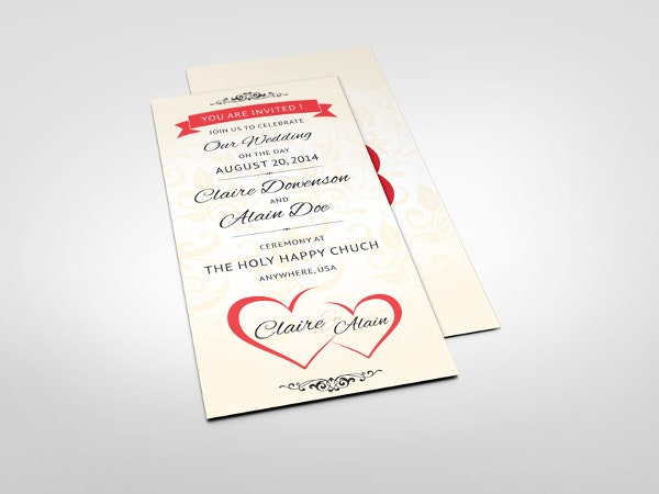 wedding ceremony invitation card