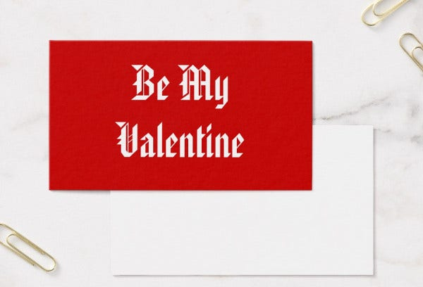 -Business Valentines Day Card