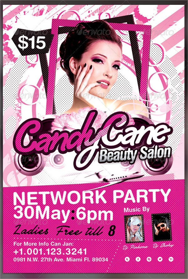 Salon Grand Opening Flyer
