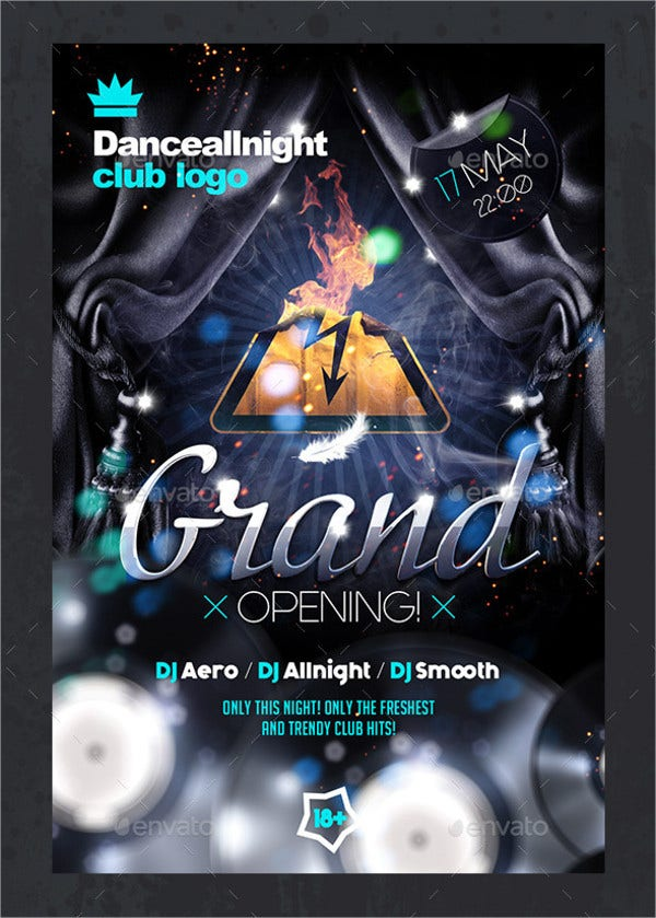 Grand Opening Club Flyer