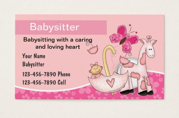 babysitting quotes for business card