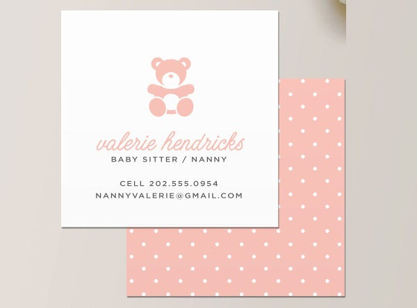 -Babysitting Services Business Card