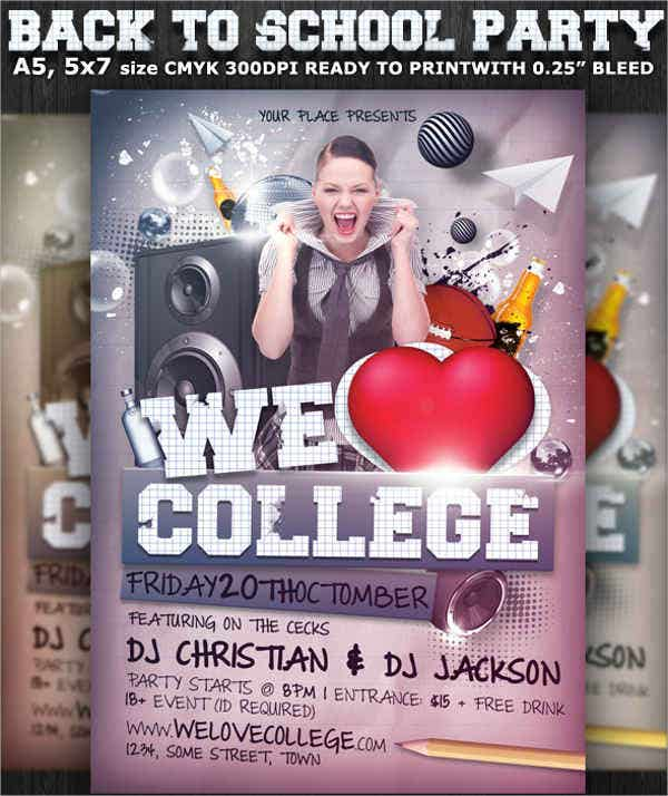 college party flyer