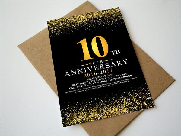 66 invitation card designs free premium templates business anniversary invitation card stopboris Images