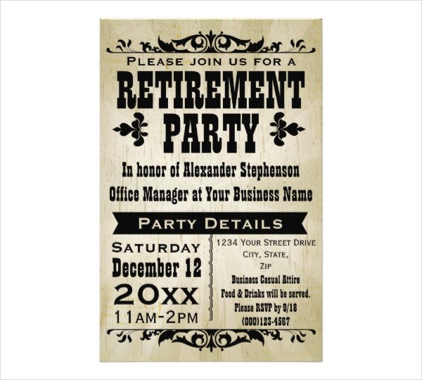 retirement celebration flyer
