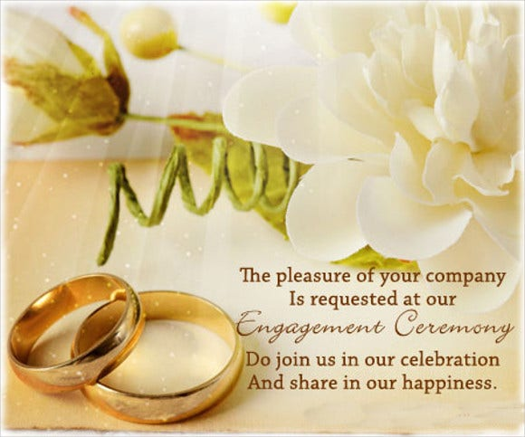 traditional engagement invitation card
