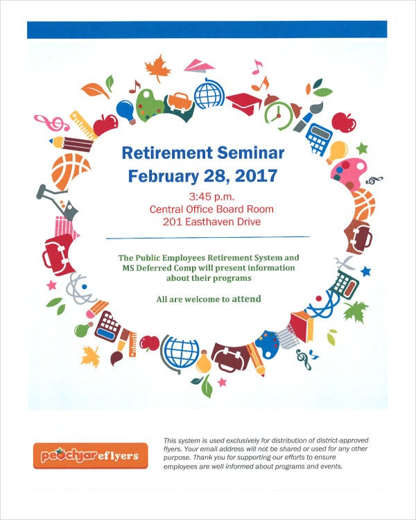Retirement Seminar Flyer