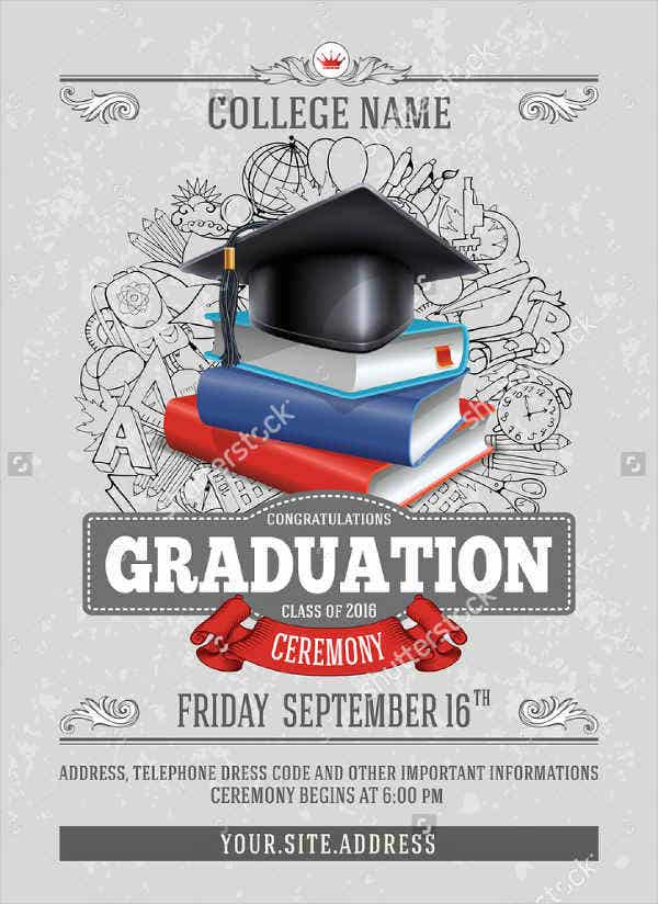 college graduation flyer