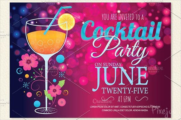 cocktail party invite template - 69 sample invitation cards free premium templates
