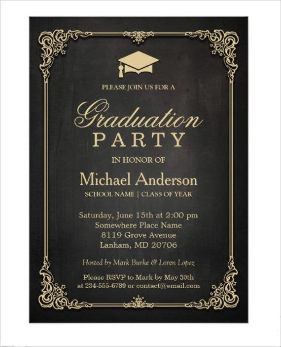 76 invitation card example free sample example format free graduation party invitation card stopboris Choice Image