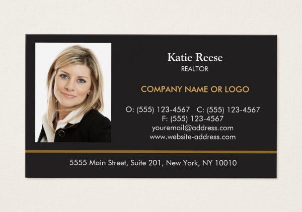 professional photo business card
