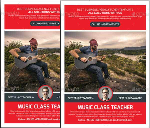 music teacher flyer