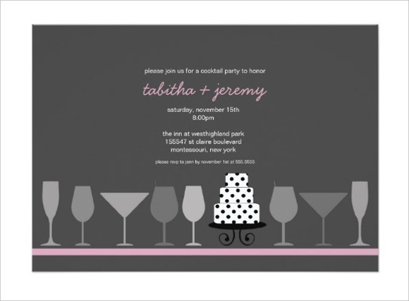 cocktail party invitation card1