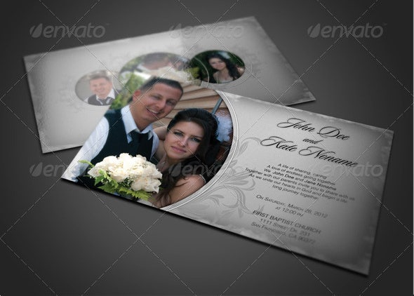 photo wedding invitation card