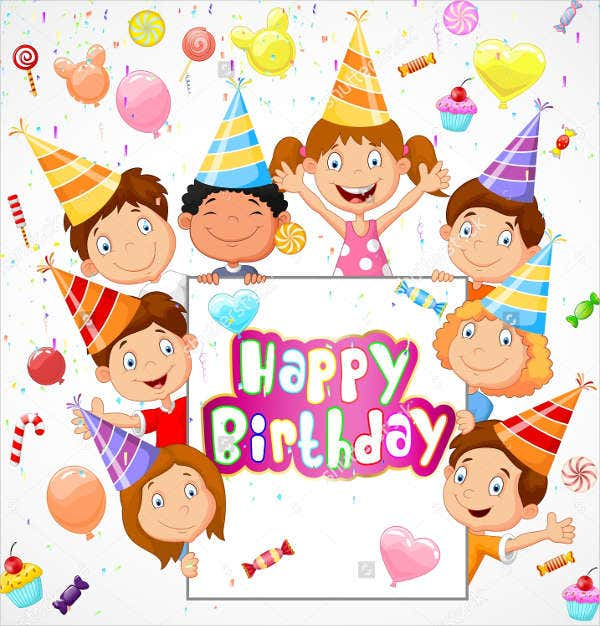 -Kids Happy Birthday Card