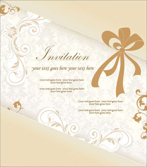 Free Engagement Invitation Card Vector Template  Free Engagement Invitation Templates