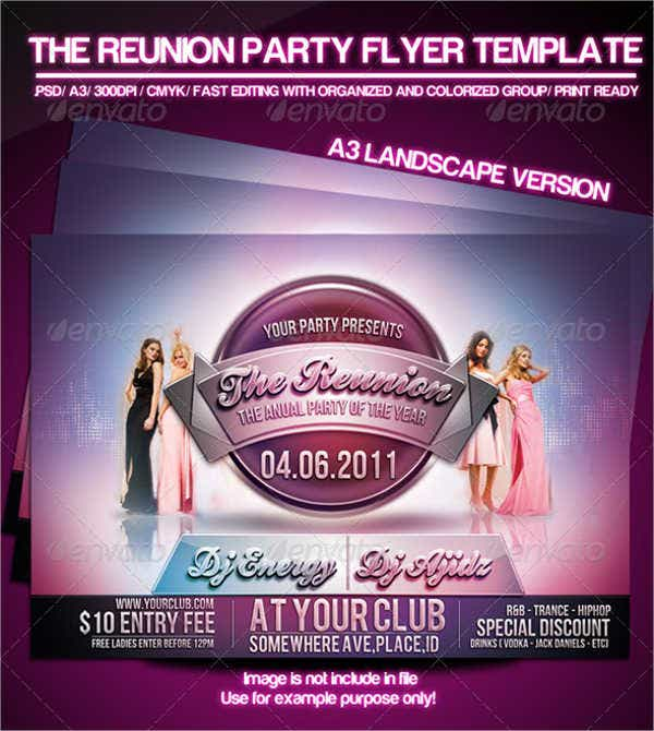 reunion party flyer
