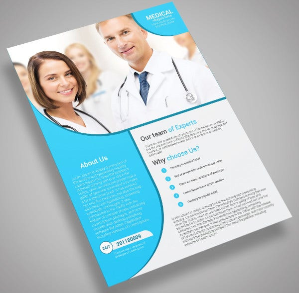 health care marketing flyer