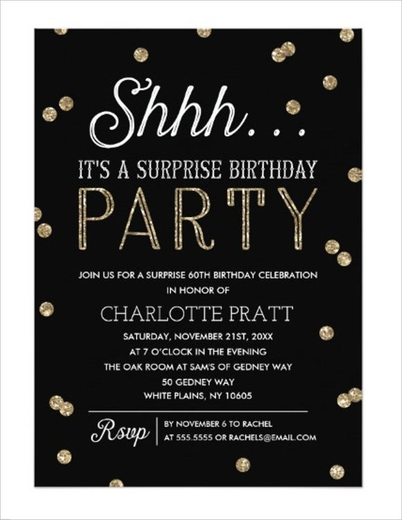 76 invitation card example free sample example format free personalized surprise birthday invitation card stopboris Choice Image