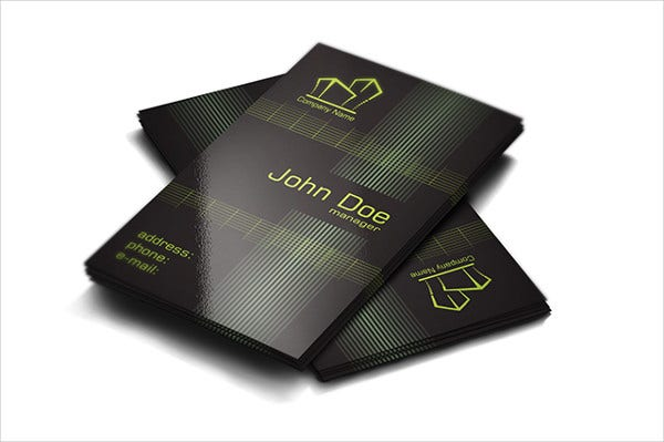 -Fancy Real Estate Business Card