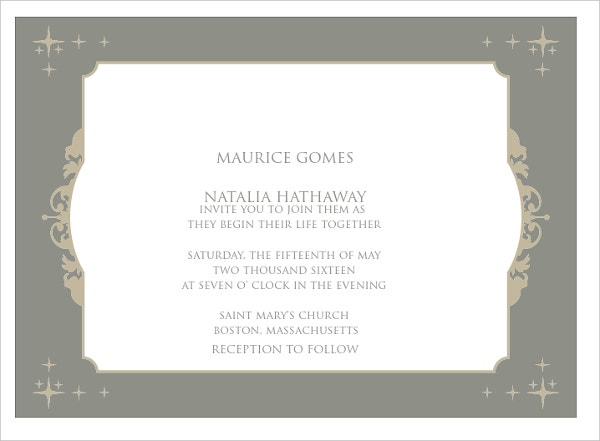 personalized wedding invitation card