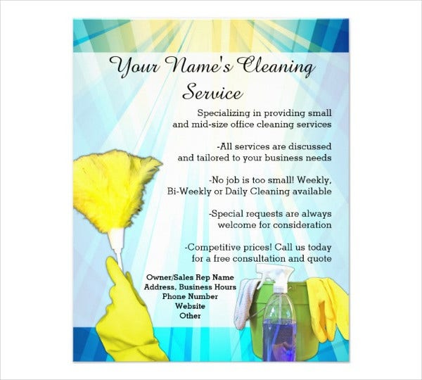 Printable Flyer Templates 50 Free PSD Vector AI EPS Format – House Cleaning Flyer Template