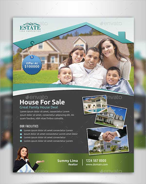 professional real estate flyer