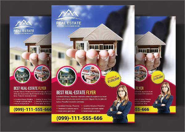 editable real estate flyer