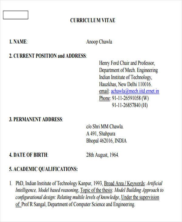 engineering fresher resume pdf