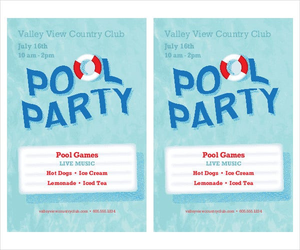 Printable flyer templates 50 free psd vector ai eps for Pool design templates