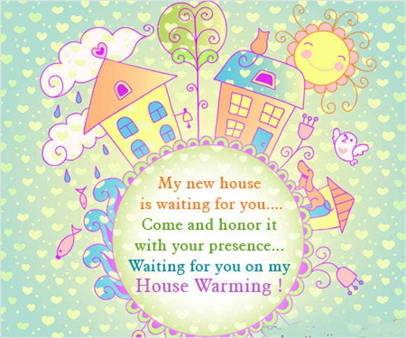 housewarming ceremony invitation card