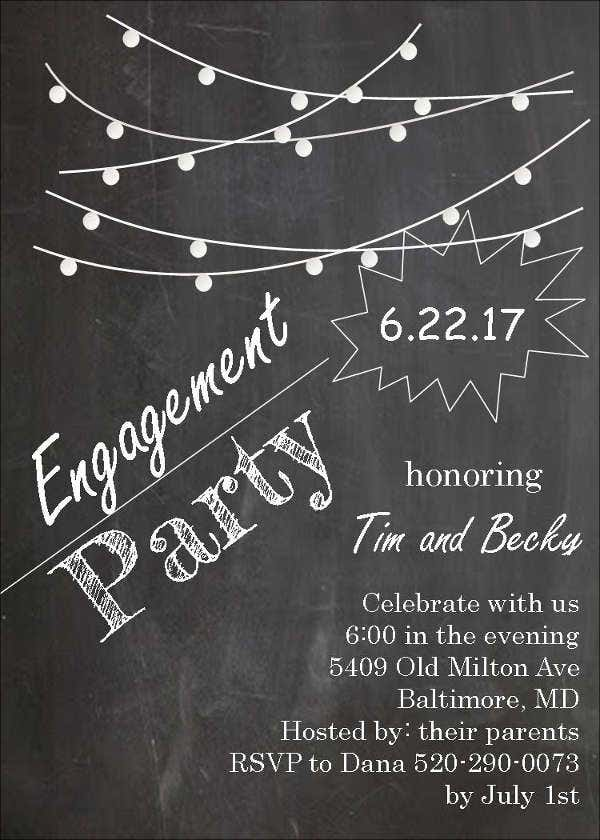 chalkboard engagement party invitation3