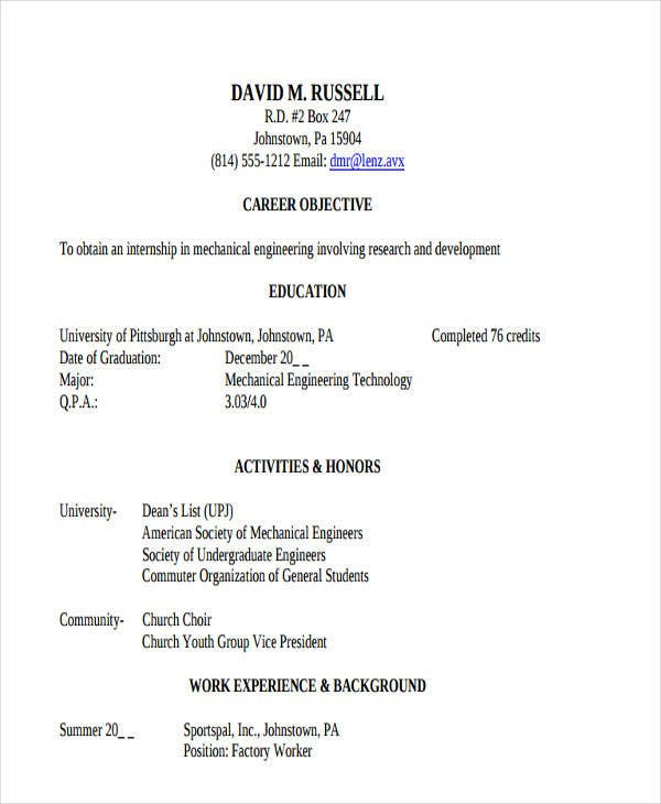 47  engineering resume samples