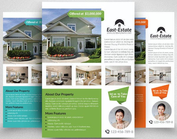 50 sample flyers free premium templates for Commercial real estate brochure template