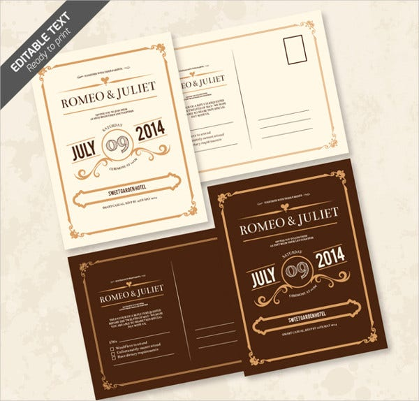 editable wedding invitation card
