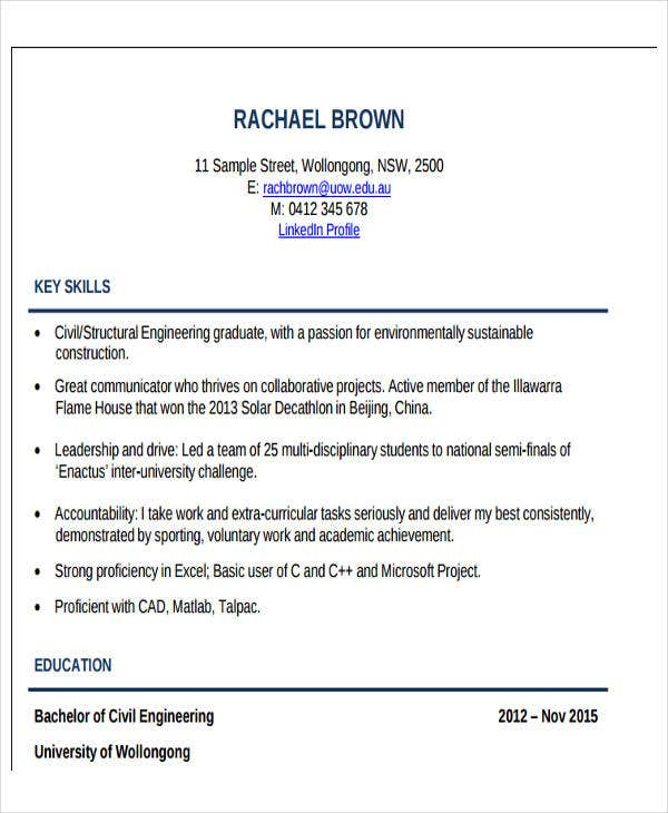 professional civil engineering resume1