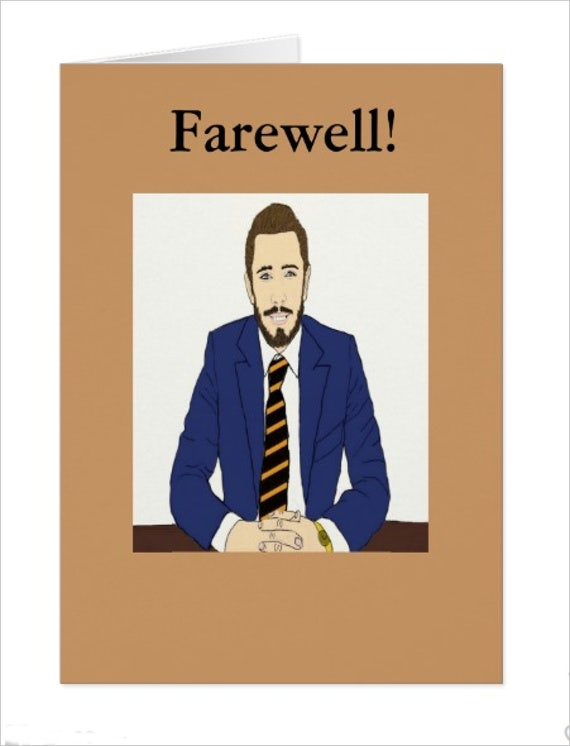 office farewell invitation card