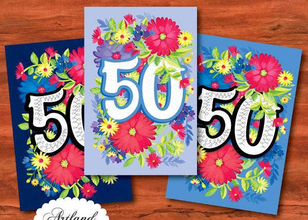 -Happy 50th Birthday Card