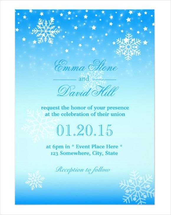 frozen themed invitation card