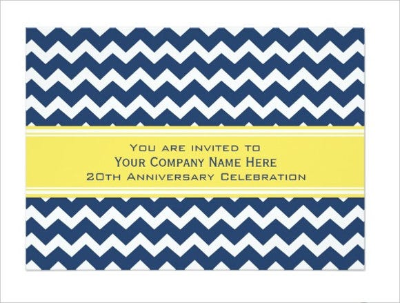 corporate anniversary invitation card