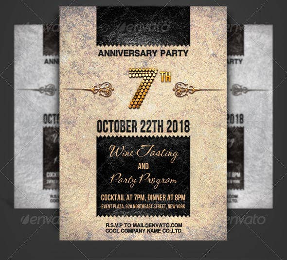 company-anniversary-invitation-card